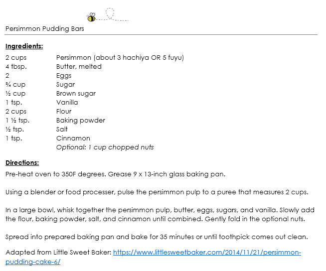 Persimmon Pudding Bars snippet