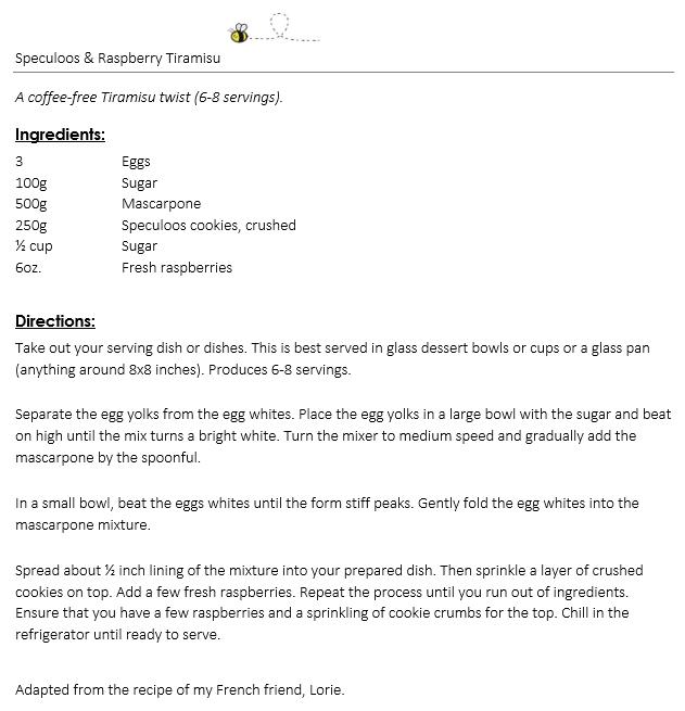 Speculoos & Raspberry Tiramisu snippet