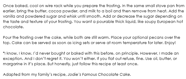Texas Chocolate Sheet Cake snippet 2