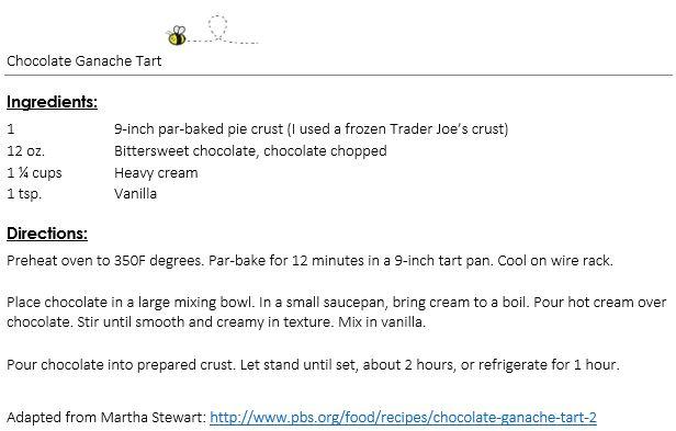 Chocolate Ganache Tart snippet