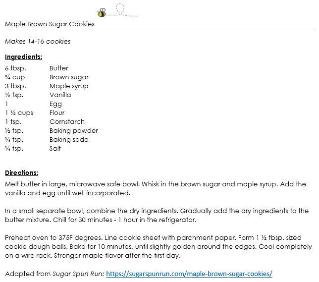 Maple Brown Sugar Cookies snippet