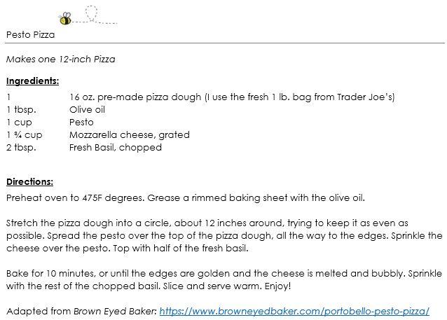 Pesto Pizza snippet