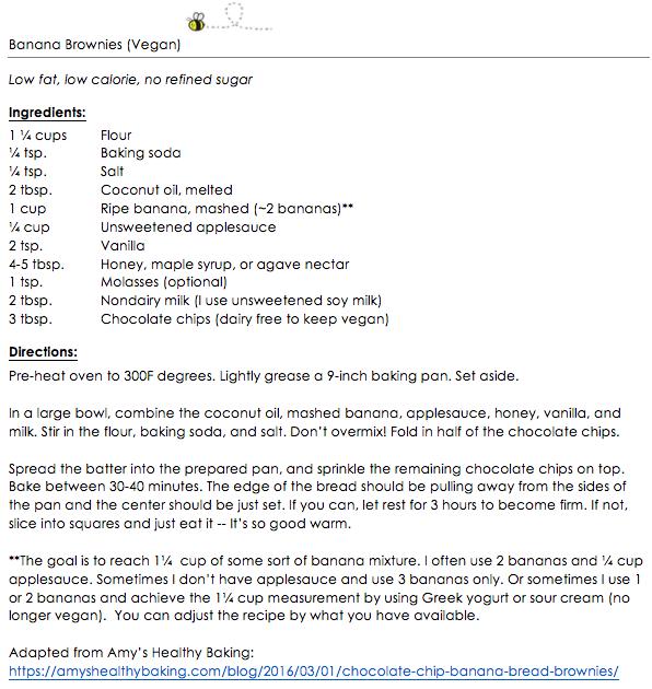 Banana Brownies (vegan) snippet