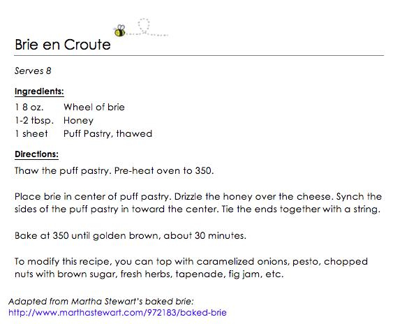 Brie en Croute snippet