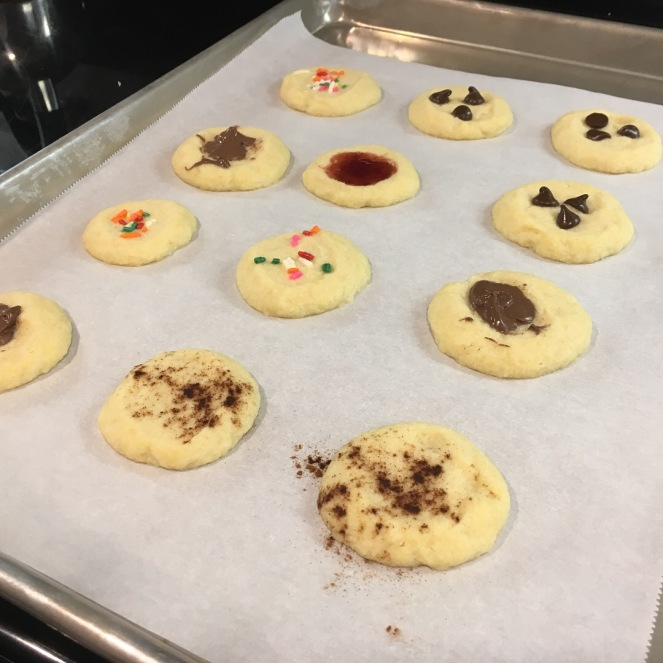 3 Ingredient Thumb-Print Butter Cookies