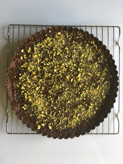 Milk Chocolate Pistachio Tart