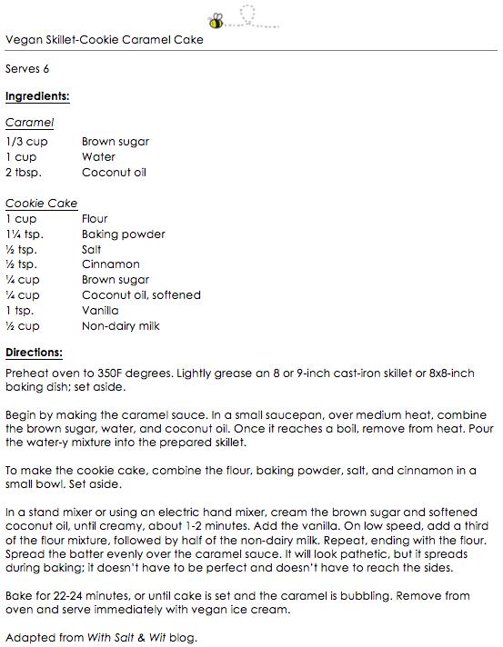 Vegan Skillet-Cookie Caramel Cake snippet
