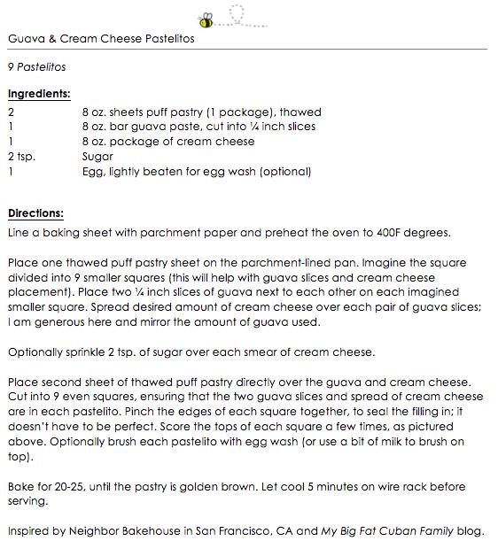 Guava & Cream Cheese Pastelitos Snippet