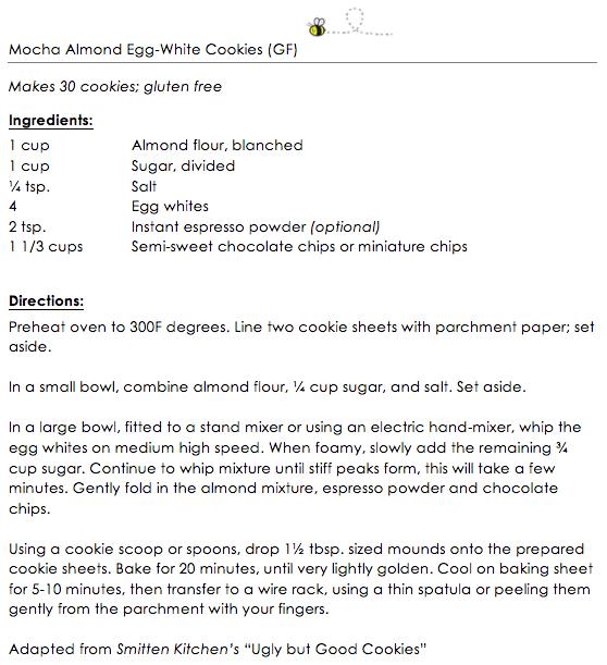 Mocha Almond Egg-white cookies (GF) snippet