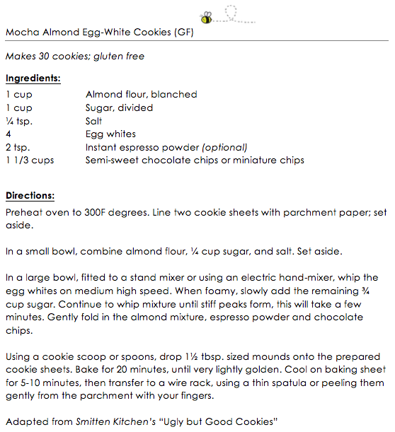 Mocha Almond Egg-white cookies (GF) snippet