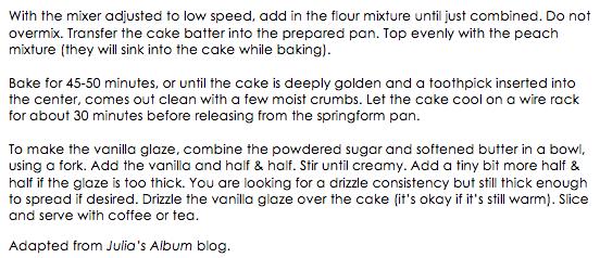 Peach Cake with Vanilla Glaze snippet 2