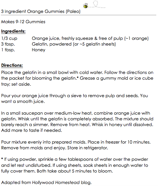 3 Ingredient Orange Gummies (Paleo) snippet