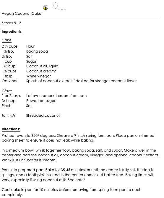 Vegan Coconut Cake snippet 1
