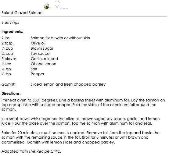 Baked Glazed Salmon snippet