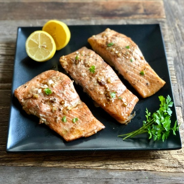 Baked Glazed Salmon