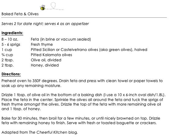 Baked Feta & Olives snippet