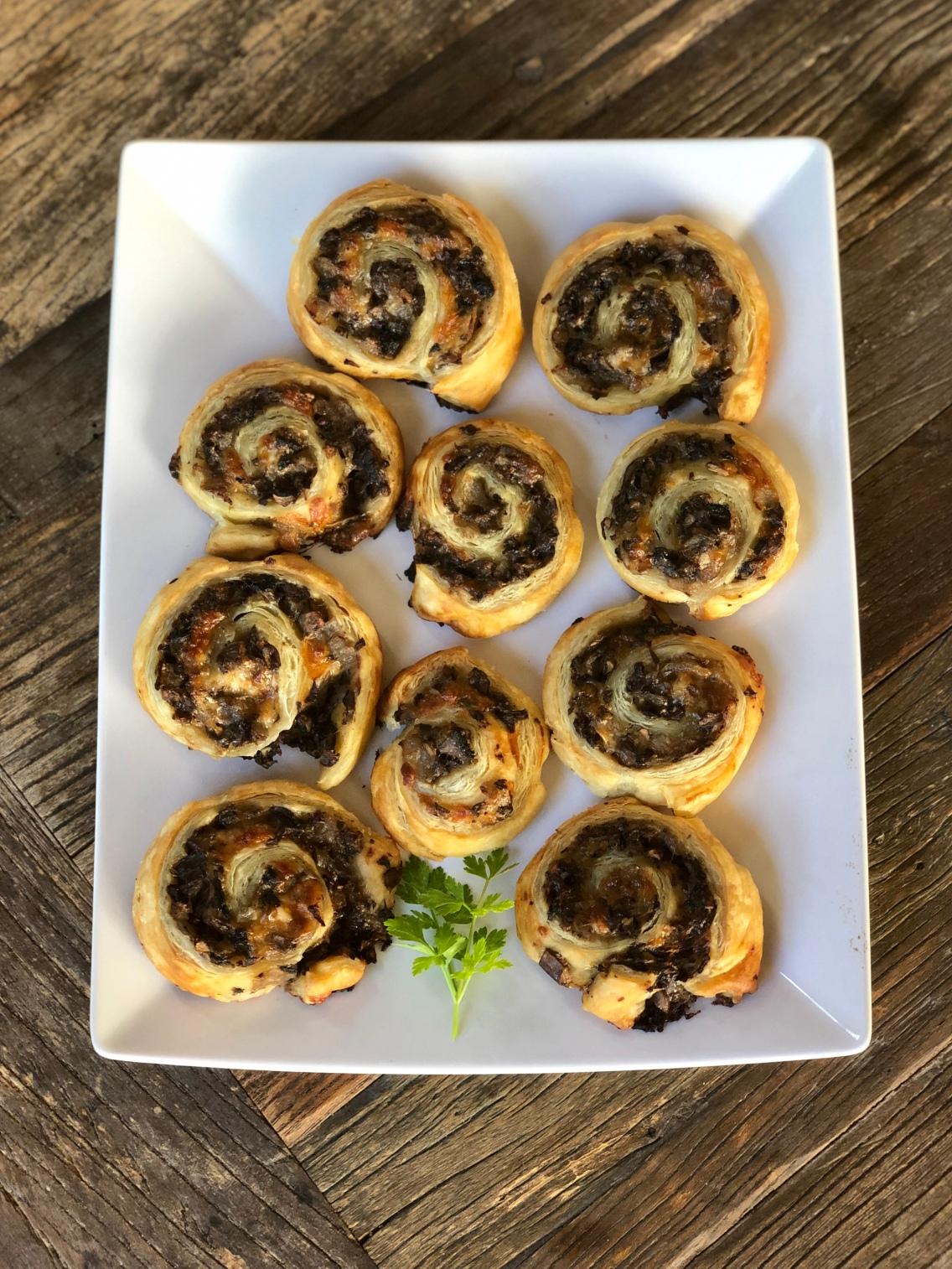 Mushroom Puff Pastry Swirls