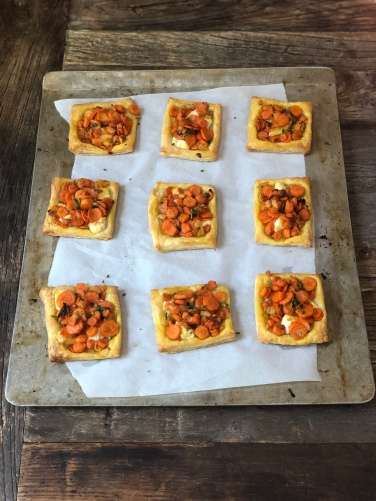 Carrot & Herb Cheese Tartlets