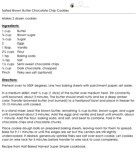 Salted Brown Butter Chocolate Chip Cookies snippet
