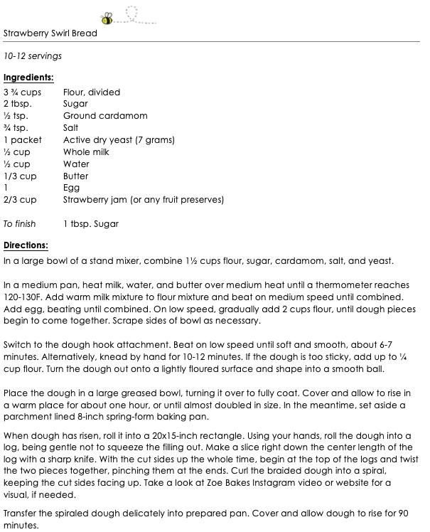 Strawberry Swirl Bread snippet 1