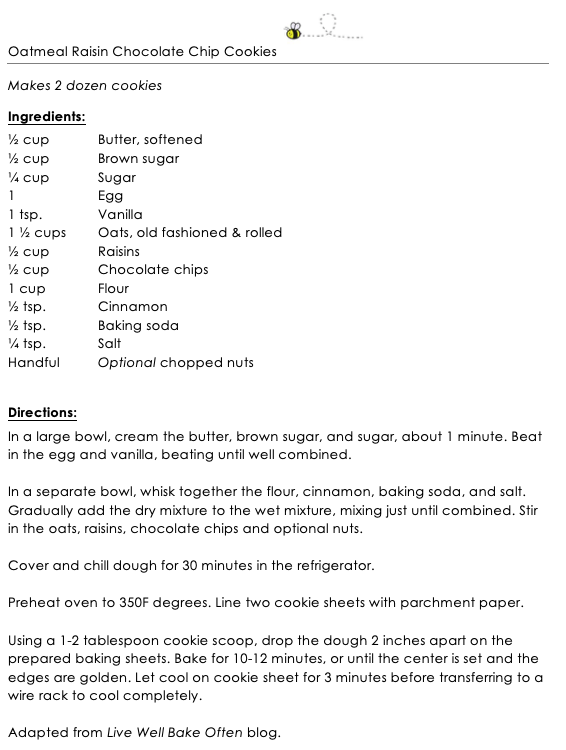 Oatmeal Raisin Chocolate Chip Cookies snippet