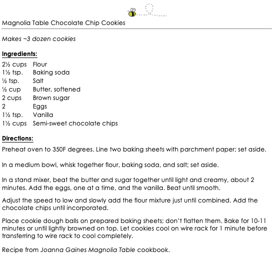 Magnolia Table Chocolate Chip Cookies Snippet